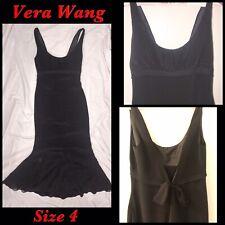 New VERA WANG Black Evening Gown Sleeveless Dress LBD Size 4