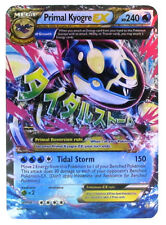 Pokémon Individual Card Mega EX Primal Kyogre with Card Sleeve and Box Case