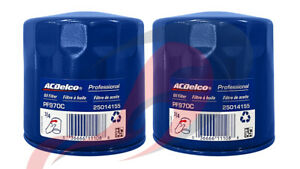 Genuine GM ACDelco Engine Oil Filter PF970C Set Of 2