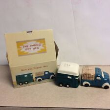 Cracker Barrel Salt Pepper Shaker Pick Up/ Horse Trailer New in Box