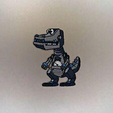 Dinosaurus Rex Patch — Iron On Badge Embroidered Motif — Dinosaur Robot T Rex