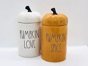 Rae Dunn 13.2 Oz Ceramic Scented Candle PUMPKIN SPICE PUMPKIN LOVE with Topper