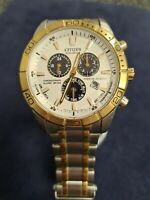 Gents Citizen Eco-drive Chronograph Watch With Calendar