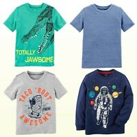New Carter's Boys Graphic T-Shirt-Preschool  Sizes (4-8) Long or Short Sleeve