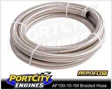 Aeroflow Stainless Steel Braided Hose -10AN 1 Metre 100 series AF100-10-1M