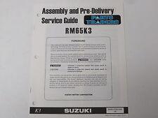 OEM Suzuki Assembly PDI Pre-Delivery Inspection Setup Service Guide RM65K3 RM65