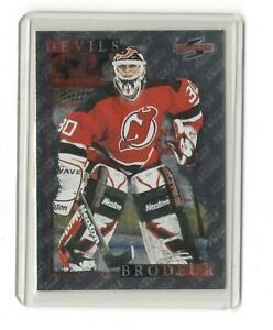 MARTIN BRODEUR 1995-96 Score Black Ice Artist Proof #25 Devils Hockey Card -NRMT