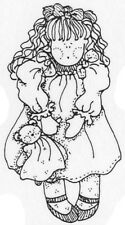 Unmounted Rubber Stamps, Whimsical, Doll & Teddy Bear, Rag dolls, Dolls, Country