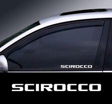 2 X Vw Scirocco Window Decal Sticker Gráfico * Color Elección * (2)