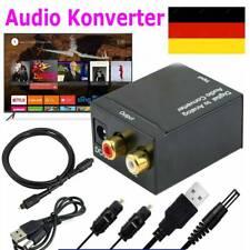 Audio Konverter Audiowandler Digital /Toslink und Koaxial zu Analog RCA 3.5mm DE