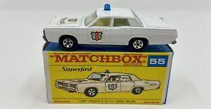 Matchbox Superfast No. 55 Mercury Police Car in Original 'F2' Box