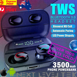 TWS Wireless Bluetooth Headphones for Earpods IOS Android Earbuds Sports