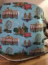 Large Tote Bag With Leather Handle Like Cath Kidston And Detachable Strap.