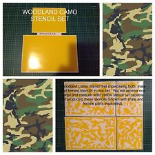 Woodland Camo vinyl stencil For Duracoat, Cerakote, Krylon.