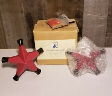 New Pottery Barn Kids Red Metal Star 2 Curtain Finials