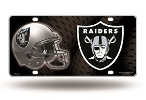 Oakland Raiders 12x6 Auto Metal License Plate Tag CAR TRUCK