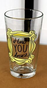 Friends Television Series How You Doin Joey Catchphrase Drinking Glass Tumbler
