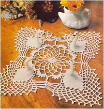 CROCHET PATTERN Instructions to make a Swan Lace Table Centre