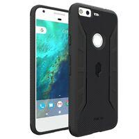For Google Pixel XL Poetic Shockproof Carbon Fiber Texture Cover Case Black