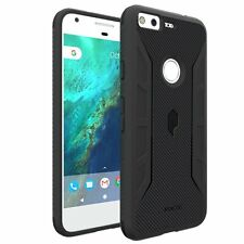 For Google Pixel XL Poetic Shockproof Carbon Fiber Texture Cover Case Black