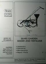 Sears Walk Behind Garden Seeder Planter & Fertilizer Owner & Parts Manual 12pg
