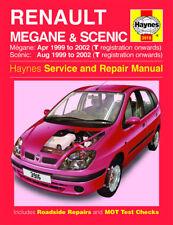 3916 Haynes Renault Megane & Scenic Petrol & Diesel (Apr 1999 - 2002) Manual