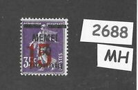 MH stamp Scott 45 / 1922 Memel 15 / 50 / 35 / Lithuania / Prussia / Germany