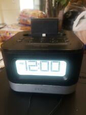 IHome iPL8BN Stereo FM Clock Radio with Lightning Dock for iPhone/iPod Black