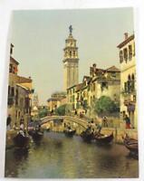 "Rare ""Sunny Venice"" by Martin Rico Salesman Sample Calendar Print ~ 6.75""x5"""