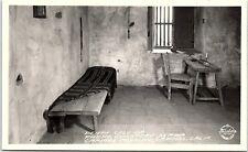 RPPC CA Carmel Death Cell Of Padre Junipero Serra Real Photo Postcard X1