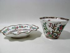 Old COALPORT Bone China INDIAN TREE Multicolor Scalloped 2 Relish Serving Bowls