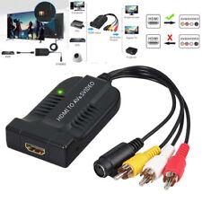 HDMI zu AV CVBS S-Video Konverter Composite HDMI zu 3RCA R / L Adapter 1080P PAL