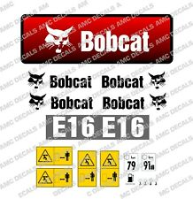 BOBCAT E16 2014 MINI DIGGER EXCAVATOR DECAL STICKER SET