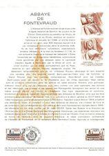 1e jour Timbre sur document philatélique - Abbaye de Fontevraud