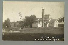 Stewartville MINNESOTA RP c1920 CUSSON'S MILL Flour Grist nr Rochester SE MN