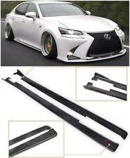 For 13-Up Lexus GS Lexon Style CARBON FIBER Side Skirts Rocker Panels Splitter