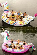 Inflatable 6 Person Raft Boat Floating Party Lake Float Unicorn or Zebra