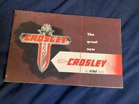 1940s Crosley Full line Color Brochure Catalog Prospekt