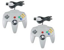 2x Gris Controller para Nintendo 64 N64 Game Pad Joystick
