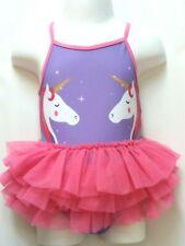 409efdf55038e New Girls Purple Unicorn Tutu Swimming Costume Swimwear 18-23 mths Swimsuit  Bnwt