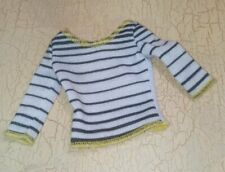 Barbie Doll Clothes Black Yellow White Striped Shirt  NEW De-boxed ??