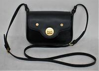 COCCINELLE Ladies Black Leather Pony Hair Clasp Closure Cross Body Handbag