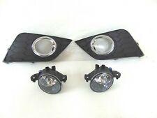 New Fits 16-19 Nissan Sentra Fog Light Lamp Cover Left Right Front Bumper Set