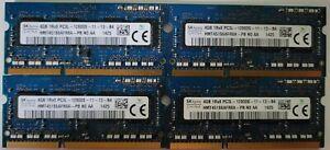 Hynix 4gb pc3-12800 Laptop RAM Modules x4 16GB total, HMT451S6ADR8A