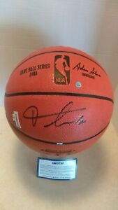 Frank Ntilikina Autographed Spalding Basketball NY Knicks & C.O.A. Authenticated
