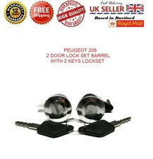 PEUGEOT 206 2 DOOR LOCK SET BARREL WITH 2 KEYS LOCK SET NEW