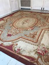 Sublime antique Aubusson carpet 19th century original.