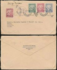 BARBADOS 1938 MARITIME PAQUEBOT DUPLEX on SEAHORSES to FLORIDA DA COSTA ENVELOPE