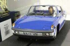 SRC 02007 PORSCHE 914 ADRIATIC BLUE STREET CAR NEW 1/32 SLOT CAR IN DISPLAY CASE