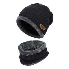 Gorro Conjunto bufanda Sombrero Mujer Forro polar Tejer Calentar Grueso Invierno